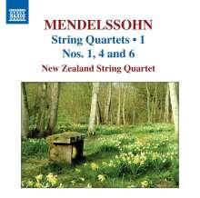 Felix Mendelssohn Bartholdy (1809-1847): Streichquartette Vol.1, CD