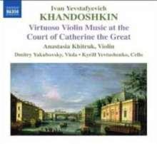 Iwan Khandoschkin (1747-1804): Sonaten für Violine solo Nr.1-3, CD