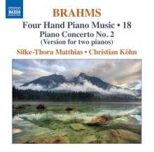 Johannes Brahms (1833-1897): Klaviermusik zu 4 Händen Vol.18, CD