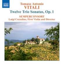 Tomaso Antonio Vitali (1670-1745): Trio Sonaten op.1 Nr.1-12, CD