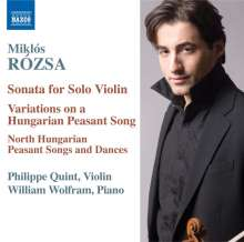 Miklós Rózsa (1907-1995): Sonate für Violine solo op.40, CD