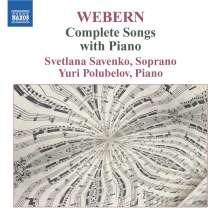 Anton Webern (1883-1945): Lieder, CD
