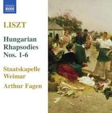Franz Liszt (1811-1886): Ungarische Rhapsodien Nr.1-6, CD