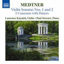 Nikolai Medtner (1880-1951): Sonaten für Violine & Klavier Nr.1 & 2, CD