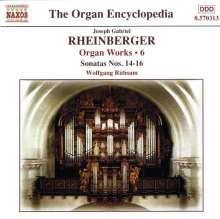 Josef Rheinberger (1839-1901): Sämtliche Orgelwerke Vol.6, CD