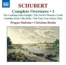 Franz Schubert (1797-1828): Sämtliche Ouvertüren Vol.1, CD