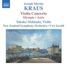 Josef Martin Kraus (1756-1792): Violinkonzert/Olympie/Azire, CD