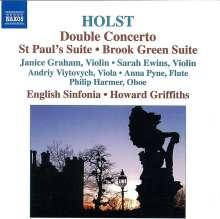 Gustav Holst (1874-1934): Konzert für 2 Violinen & Orchester op.49, CD