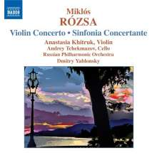 Miklos Rozsa (1907-1995): Sinfonia concertante op.29, CD