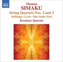 "Thomas Simaku (geb. 1958): Streichquartette Nr.2 & 3 (""Voci Celesti"" & ""Radius""), CD"