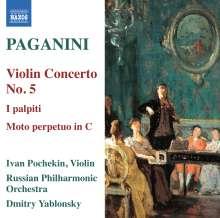 Niccolo Paganini (1782-1840): Violinkonzert Nr.5, CD