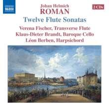 Johan Helmich Roman (1694-1758): Sonaten für Flöte,Cello & Cembalo Nr.1-12, 2 CDs