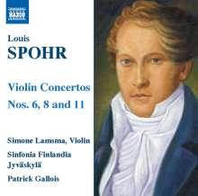 Louis Spohr (1784-1859): Violinkonzerte Nr.6,8,11, CD