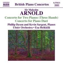 Malcolm Arnold (1921-2006): Konzert für 2 Klaviere (3-händig) op.104, CD