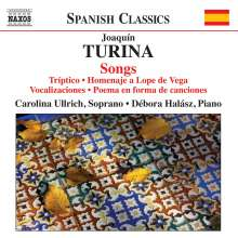Joaquin Turina (1882-1949): Lieder, CD