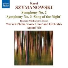 Karol Szymanowski (1882-1937): Symphonien Nr.2 & 3, CD