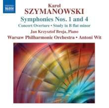Karol Szymanowski (1882-1937): Symphonien Nr.1 & 4, CD