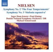 Carl Nielsen (1865-1931): Symphonien Nr.2 & 3, CD