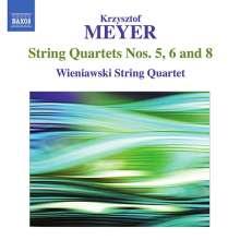 Krzysztof Meyer (geb. 1943): Streichquartette Nr.5,6,8, CD