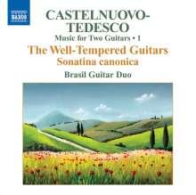 Mario Castelnuovo-Tedesco (1895-1968): Sämtliche Werke für 2 Gitarren Vol.1, CD