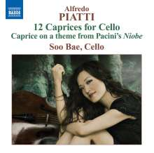 Alfredo Piatti (1822-1901): Capricci op.25 Nr.1-12 f.Cello solo, CD