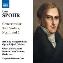 Louis Spohr (1784-1859): Concertantes für 2 Violinen Nr.1 & 2, CD