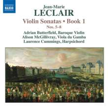 Jean Marie Leclair (1697-1764): Sonaten für Violine & Bc Heft 1 Nr.5-8, CD
