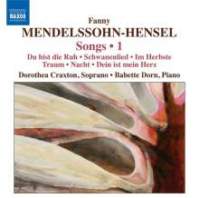 Fanny Mendelssohn-Hensel (1805-1847): Lieder Vol.1, CD