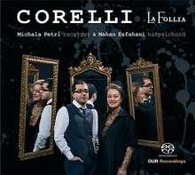 Arcangelo Corelli (1653-1713): Sonaten op.5 Nr.7-12 für Blockflöte & Cembalo, Super Audio CD