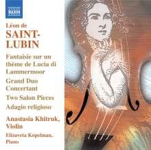 Leon de Saint-Lubin (1805-1850): Werke für Vioilne Vol.1, CD