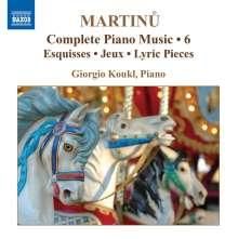 Bohuslav Martinu (1890-1959): Sämtliche Klavierwerke Vol.6, CD