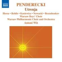 Krzysztof Penderecki (geb. 1933): Utrenja, CD