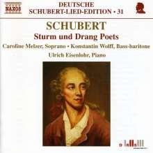 "Franz Schubert (1797-1828): Lieder ""Dichter des Sturm und Drang"", CD"