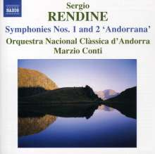 Sergio Rendine (geb. 1954): Symphonien Nr.1 & 2, CD