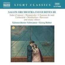 Salonorchester Schwanen - Perlen europäischer Salonmusik 3, CD