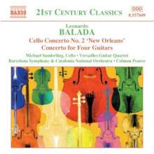 Leonardo Balada (geb. 1933): Cellokonzert Nr.2, CD