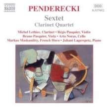 Krzysztof Penderecki (geb. 1933): Sextett für Klarinette,Horn,Violine,Viola,Cello & Klavier, CD