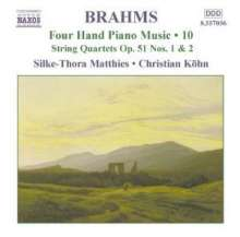 Johannes Brahms (1833-1897): Klaviermusik zu 4 Händen Vol.10, CD
