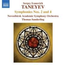 Serge Tanejew (1856-1915): Symphonien Nr.2 & 4, CD