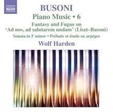 Ferruccio Busoni (1866-1924): Klavierwerke Vol.6, CD