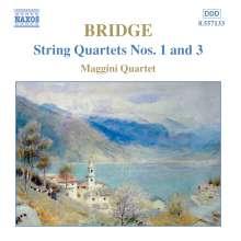 Frank Bridge (1879-1941): Streichquartette Nr.1 & 3, CD
