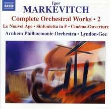 Igor Markevitch (1912-1983): Sämtliche Orchesterwerke Vol.2, CD