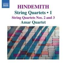 Paul Hindemith (1895-1963): Streichquartette Vol.1, CD