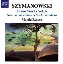 Karol Szymanowski (1882-1937): Sämtliche Klavierwerke Vol.4, CD