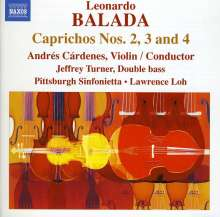 Leonardo Balada (geb. 1933): Caprichos Nr.2-4, CD
