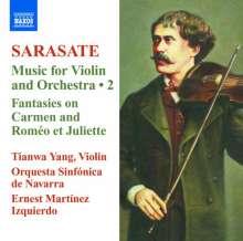 Pablo de Sarasate (1844-1908): Musik für Violine & Orchester Vol.2, CD