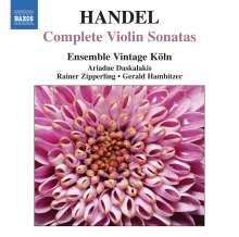 Georg Friedrich Händel (1685-1759): Violinsonaten HWV 358,359a,361,364a,368,370-373, CD