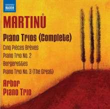 Bohuslav Martinu (1890-1959): Klaviertrios Nr.1-3, CD