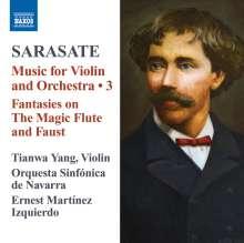 Pablo de Sarasate (1844-1908): Musik für Violine & Orchester Vol.3, CD