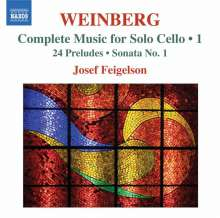 Mieczyslaw Weinberg (1919-1996): Sämtliche Werke für Cello solo Vol.1, CD